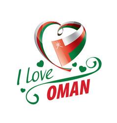National flag oman in shape a heart vector