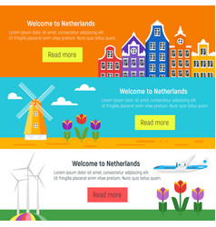Netherlands template for web banner or poster vector