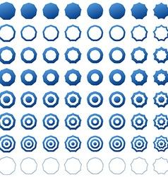 Nonagon icon template set vector image