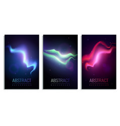 nothern lights banners vector image