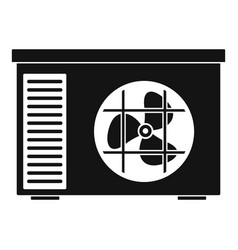 Outdoor air unit conditioner icon simple style vector