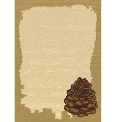 paper with pinecone vertical vector image