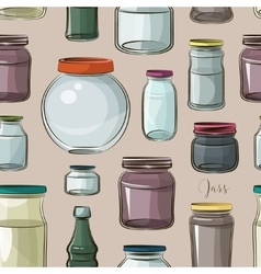 Pattern of empty jars vector image