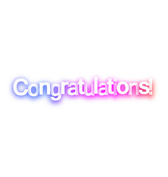 pink congratulations sign on white background vector image