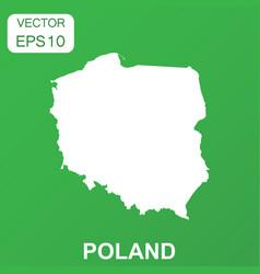 Poland map icon business concept poland pictogram vector