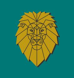 polygonal emblem middle age lion vector image
