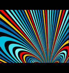 psychedelic rainbow colored optical lines insane vector image
