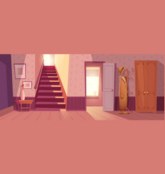 retro room interior vector image