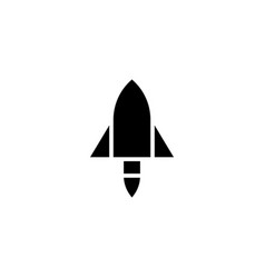 Rocket icon solid vehicle and transportation icon vector