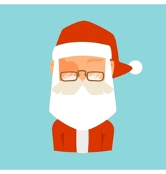 Santa Claus flat icon avatar vector image