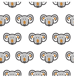 seamless pattern with cute koala bear heads vector image