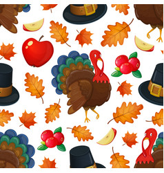 seamless pattern with turkey vector image