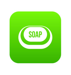 Soap icon digital green vector