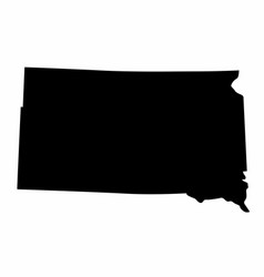 South dakota state silhouette map vector