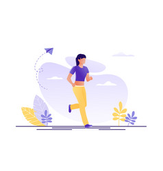 sport healthy lifestyle running jogging woman vector image