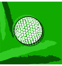 Stylized golf ball vector