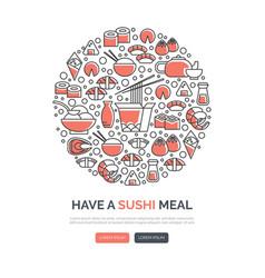 Sushi web templates vector