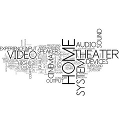 the inside and out of a home theater text vector image