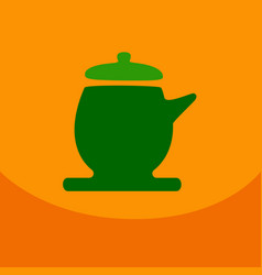 the teapot icon tea ceremony symbol flat vector image