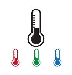 Thermometer icon vector