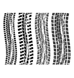 tire prints vector image