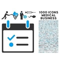 Todo list calendar day icon with 1000 medical vector