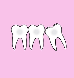 tooths vector image