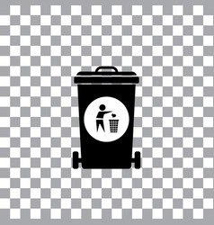 Trash recycle garbage bin vector