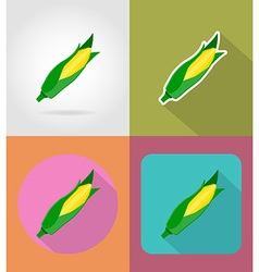 Vegetables flat icons 14 vector
