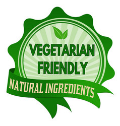 vegetarian friendly label or sticker vector image