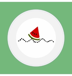 Watermelon boat vector image