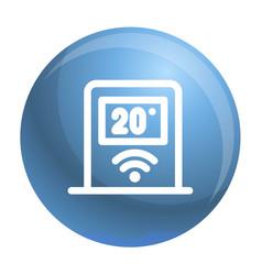 Wifi temperature control icon outline style vector