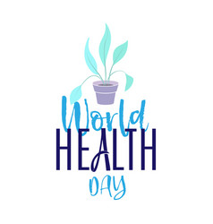 world health day holiday poster - flat design vector image