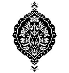 black artistic ottoman seamless pattern series vector image vector image