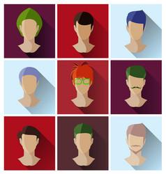 businessman icon set vector image vector image