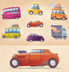 Cartoon Cars Set vector image vector image