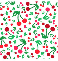 cherry background painted pattern vector image vector image