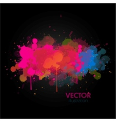 colorful paint splats background vector image vector image