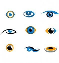 Eye icons and logos vector