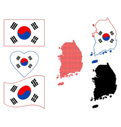 Map of South Korea vector image vector image