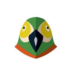 parrot head icon in flat design vector image