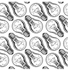 pattern with donuts incandescent lamp vector image