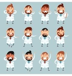 Set of doctors2 vector image