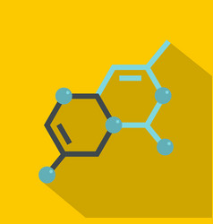 structure of molecule icon flat style vector image