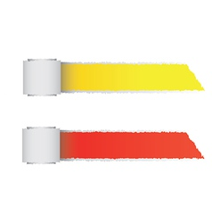 Torn paper color roll vector image