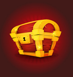 treasure chest icon for game ui vector image