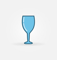 blue wine glass colorful icon vector image vector image