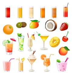 coctails vector image vector image