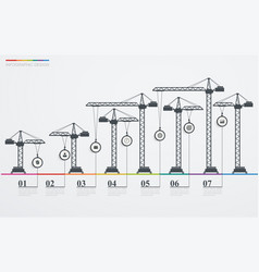 colorful road infographic timeline with icons vector image vector image