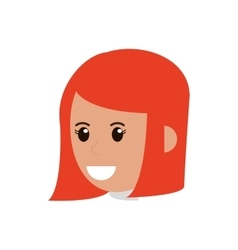 face of woman icon vector image